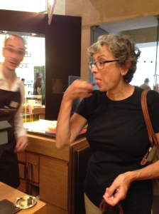 Sampling at Maison du Chocolat