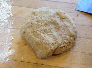 gingerbread scone dough