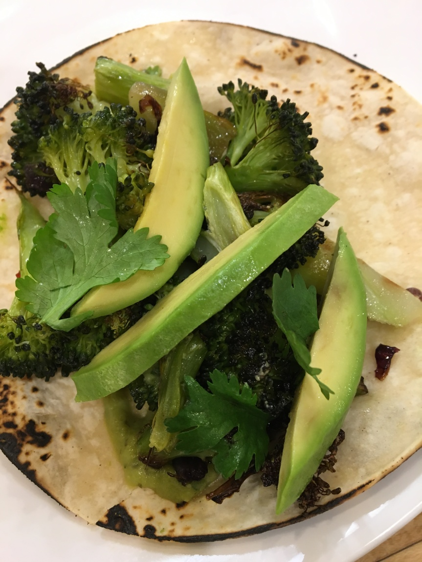 Roasted Broccoli Tacos