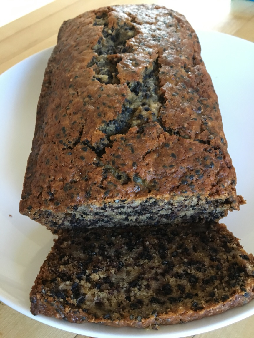 Black Sesame and Banana Tea Bread